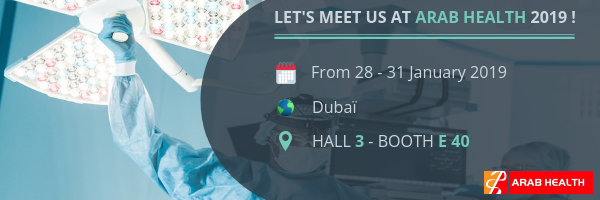 surgical light and medical pendant arab health 2019